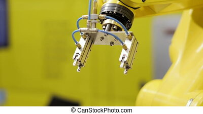 industriel, -, automation., moderne, rampe, engrenages, robotique, vitesse, bras