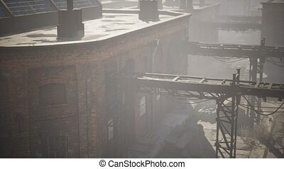 industriel, bâtiments, usine, abandonnés, vieux