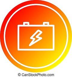 industriel, batterie, spectre, gradient, chaud, circulaire
