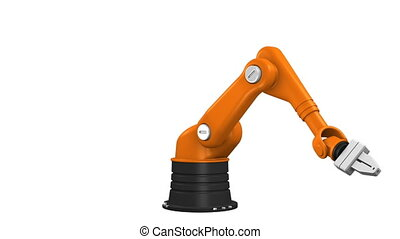 industriel, bras, robotique
