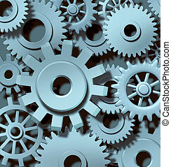 industriel, collaboration, fond