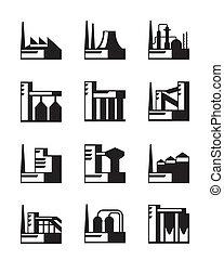 industriel, ensemble construction