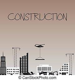 industriel, eps10, zone, construction, conception, buldings