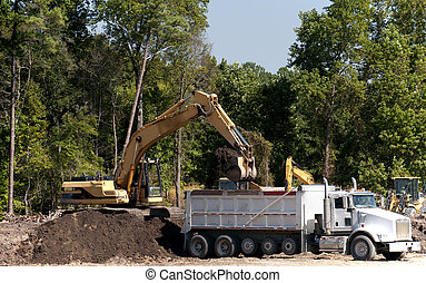 industriel, excavateur