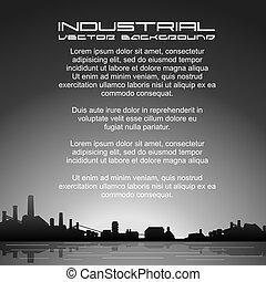 industriel, image, vecteur, fond