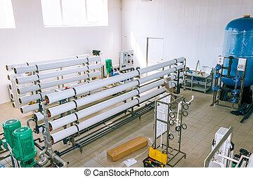 industriel, installation, appareils, membrane
