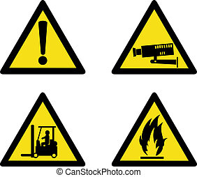 industriel, lieu travail, signes