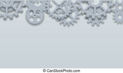 industriel, métrage, moderne, mécanisme, arrière-plan., animation, engrenages, technologie, concept., 4k