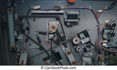 industriel, maison, quelques-uns, équipement, impression, détails