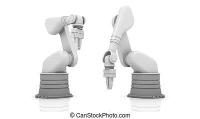 industriel, mot, robotique, équipe