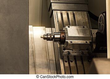 industriel, moudre, processus, metalworking, découpage, coupeur