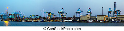 industriel, panorama, algeciras, port