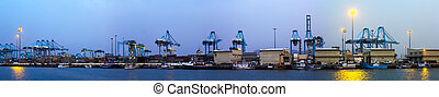 industriel, panorama, port