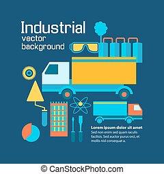 industriel, plat, infographic, gabarit
