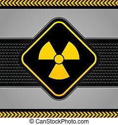industriel, radioactif, fond, résumé, symbole, gabarit