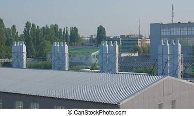 industriel, système ventilation