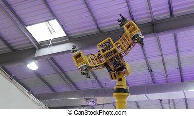 industriel, technologie, bras, robotique