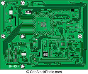 industriel, technologie, vecteur, électronique, fond