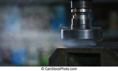 industriel, vieux, moudre, métal, machine, découpage