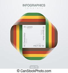 infinite., vecteur, conception, ruban, infographics, template., boucle