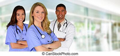 infirmières, docteur