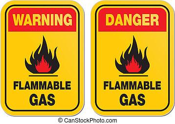 inflammable, avertissement, essence, danger