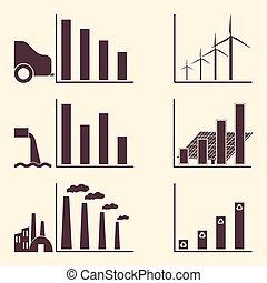 infographic, écologie, elements.