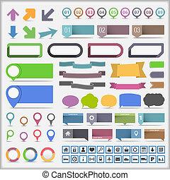 infographic, éléments, collection
