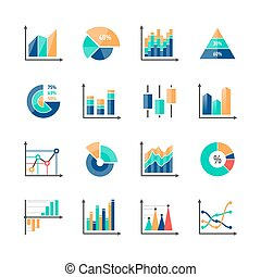 infographic, éléments, données, business, marché