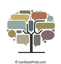 infographic, arbre, concept, art, cadres