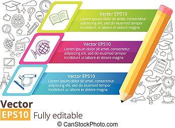 infographic, bannière, vecteur, education