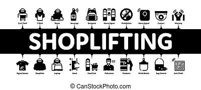 infographic, bannière, vol étalage, vecteur, minimal