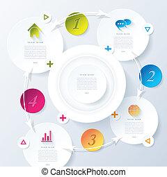 infographic, business, résumé, moderne, vecteur, conception, ton