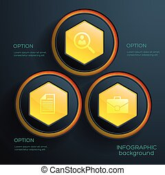 infographic, concept abstrait