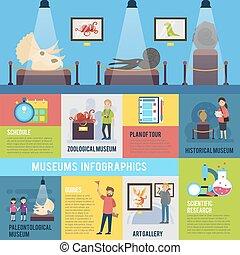 infographic, concept, excursion, coloré