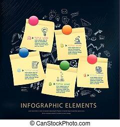 infographic, conception, concept, education, gabarit
