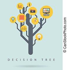 infographic, diagramme, décision, arbre, illustration, vecteur
