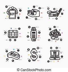 infographic, e-argent
