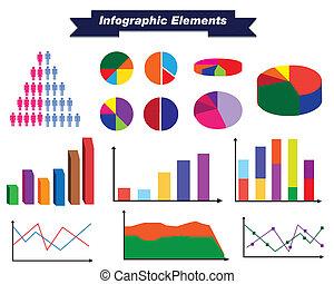 infographic, ensemble, éléments