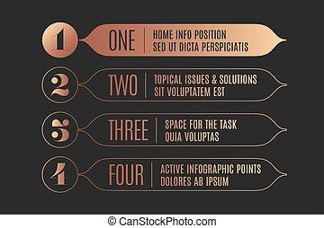infographic, ensemble, texte, bannières, flèches, vendange, conception, nombres