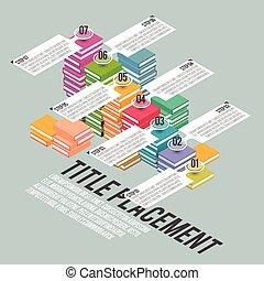 infographic, escalier, livre
