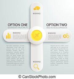 infographic, lumière, concept
