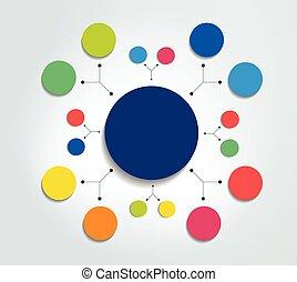 infographic, organigramme, element., diagramme, scheme.