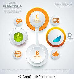 infographic, toile, presentation., business, moderne, illustration, style., vecteur, gabarit, bannière, template.
