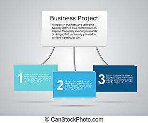 infographic., vecteur, business, 3d