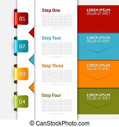 infographic, vecteur, conception, template., illustration.