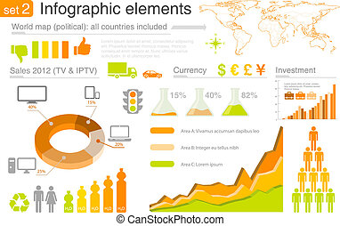 infographics, elements:, multicolore