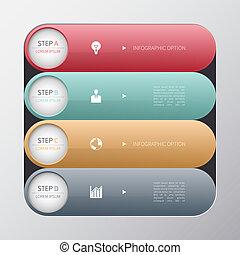 infographics, moderne, options, business, banner.
