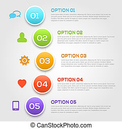 infographics, moderne, template., options