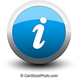 information, 2d, bouton, bleu